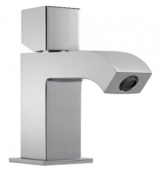 Imagen de Grifo de lavabo monomando  Tres modelo Cuadro caño aireador cromo 1.07.103