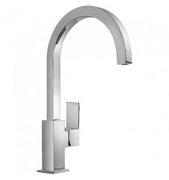 Imagen de Grifo monomando lavabo  Tres modelo Cuadro caño móvil 1.06.607