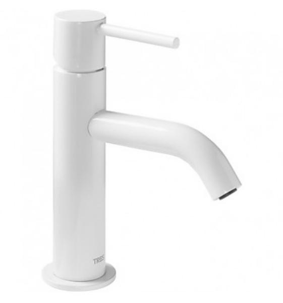 Imagen de Grifo de lavabo monomando Tres Study Blanco modelo   TRES 262.903.01.TBL.D