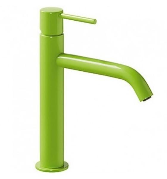 Imagen de Grifo de lavabo monomando Tres Study verde modelo   TRES 262.307.01.TVE.D