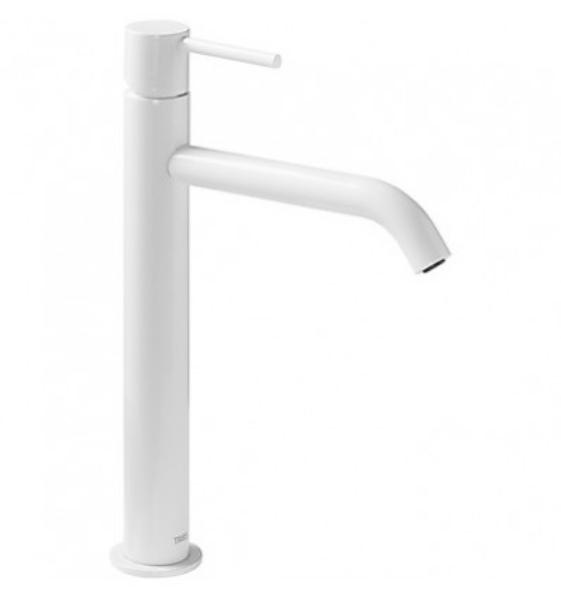 Imagen de Grifo de lavabo monomando Tres Study Blanco modelo   TRES 262.308.01.TBL.D