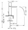 Imagen de Grifo de lavabo monomando TRES modelo 061.110.01