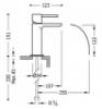 Imagen de Grifo de lavabo monomando TRES modelo 062.110.01